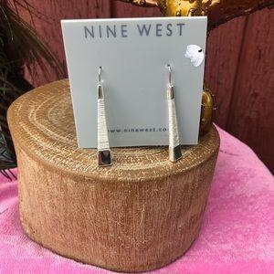 Nine West dangle earrings silver tone